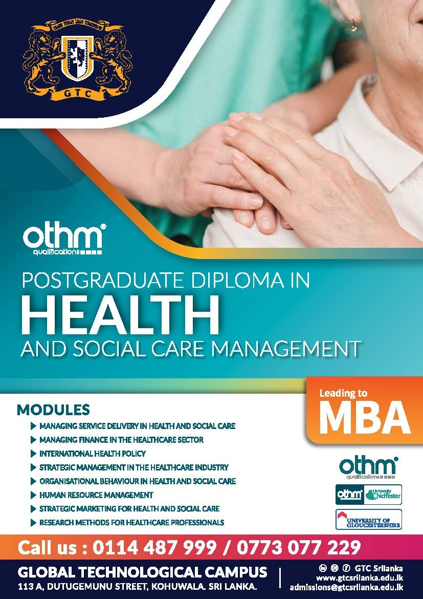 Post Graduate Diploma in Health and Social Care Management