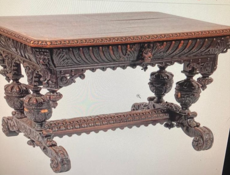 UK Victorian gothic carved center table for sale